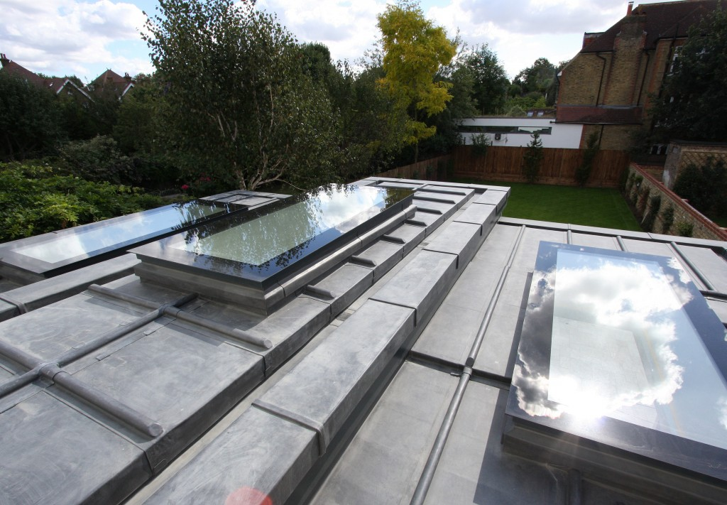 three frameless rooflights