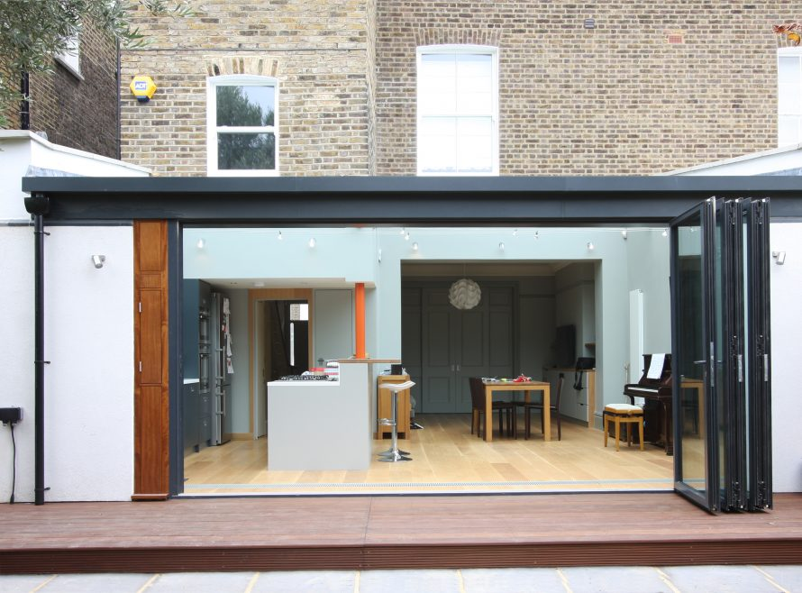 Finished project lawford street iq glass news for Large folding patio doors