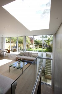 Herondale - Sliding glass doors in double height rear extension