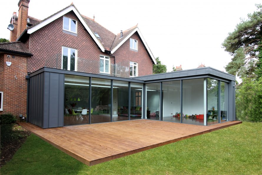 Create a roof terrace for House extension drawings