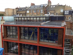 A London Project with BIPV Panels