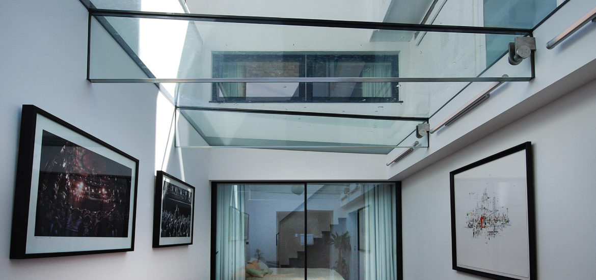 glass roof over basement