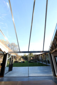 Brook Barn: Large glass roof to country house renovation