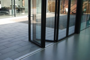 flat threshold to bi folding doors