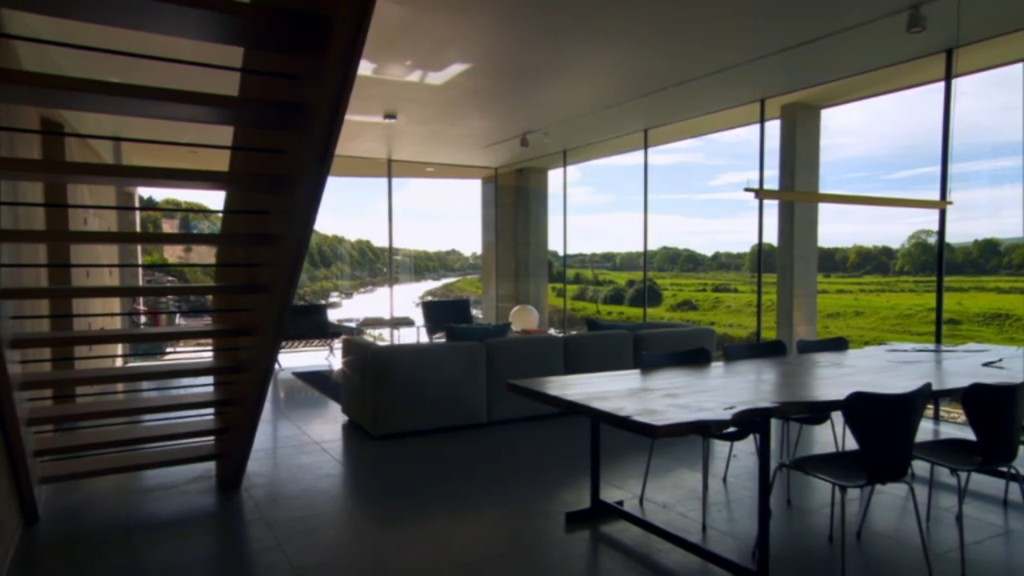 Internal views showing the great views afforded by the use of IQ's slim framed glazing