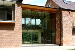 The Cuddington Mill project using oversized glazing