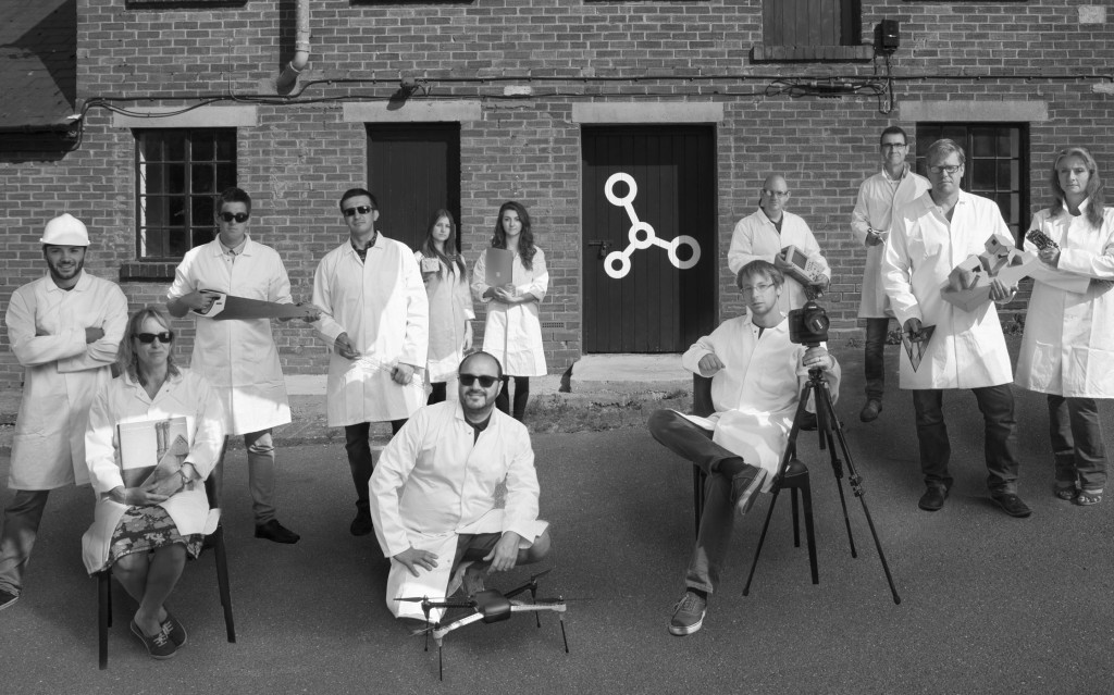 IQ Glass sponsors D-Lab, a handful of businesses photographed outside the new design laboratories in Bekhamsted.