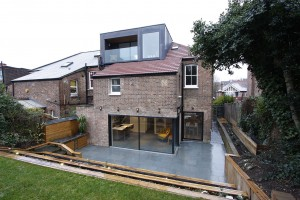 Frameless windows were used to give this loft conversion a modern design