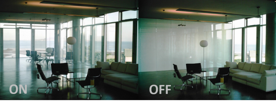 Privacy Glass in the working environment, emphasizing the amount of natural light in each room.