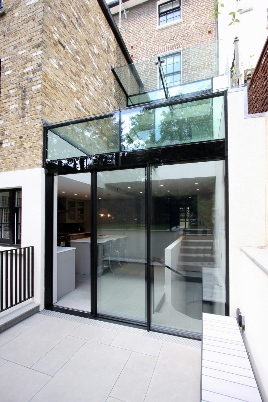 slim framed sliding glass doors