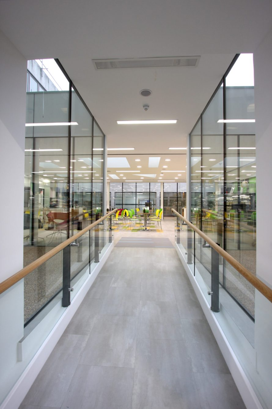Southend Civic Centre used heated glass in their new renovation