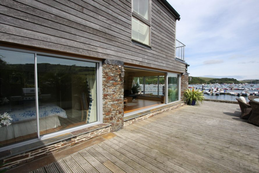 Salcombe Strand Court uses heated glass to the bedroom for comfort.