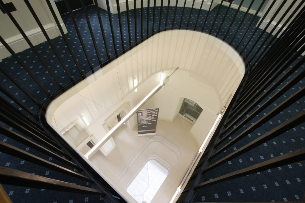 Sound proof glass used in IQ's Somerset House project.