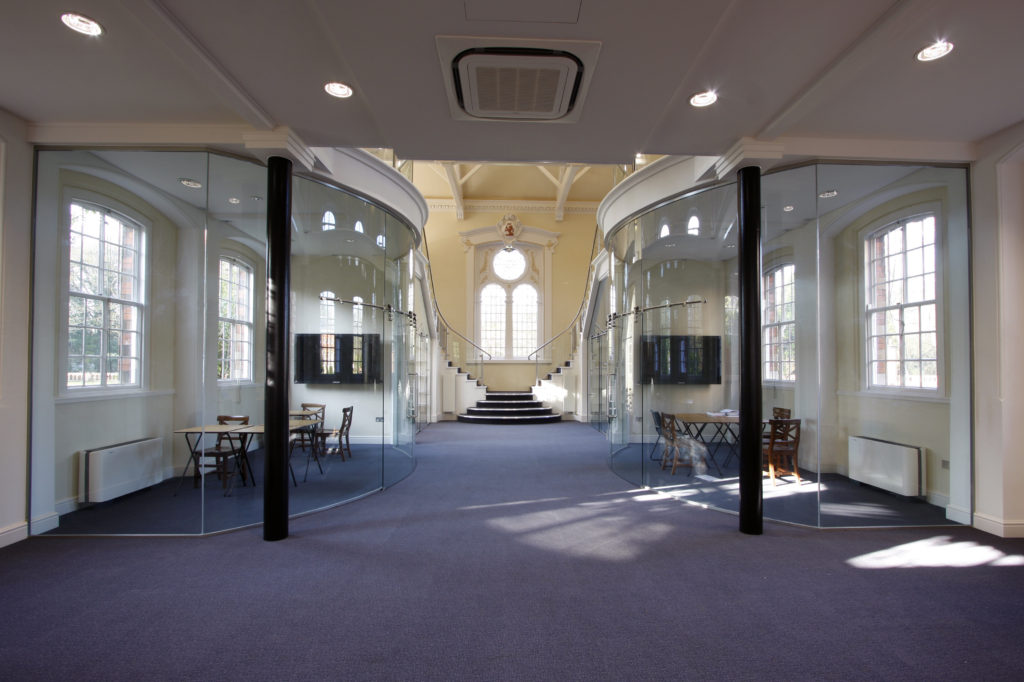 Sound proof glass in IQ's Wellington College project.