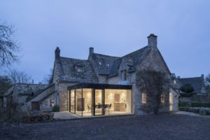 Glass extension to a grade II listed house