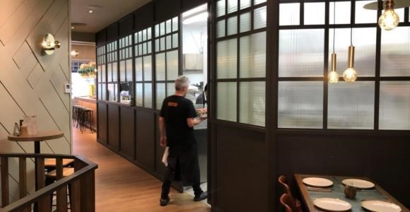 InMotion sliding door to restaurant