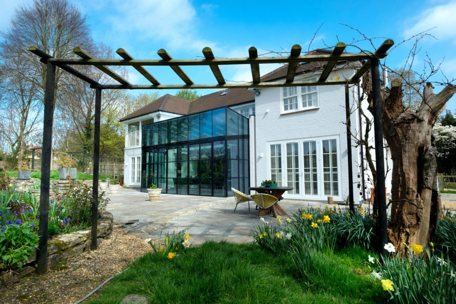 Rowood Farmhouse - Double Height Mondrian® Glass Extension