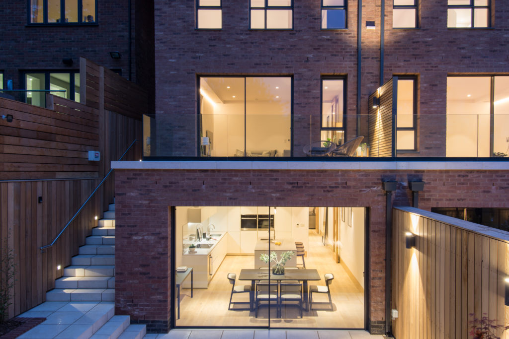 two pane minimal window to London town house