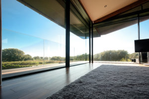 large frameless sliding doors