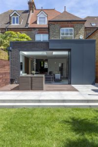 Modern extension with sliding pocket doors