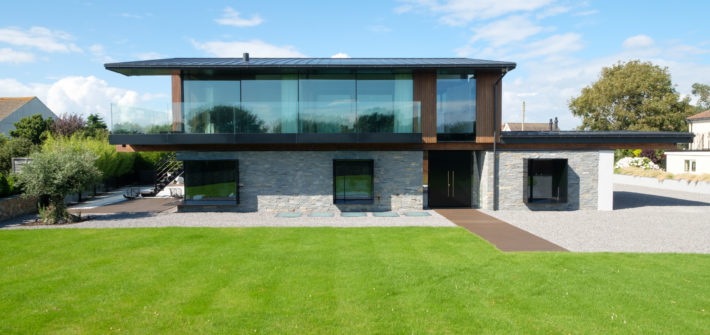 silver house new build in wales