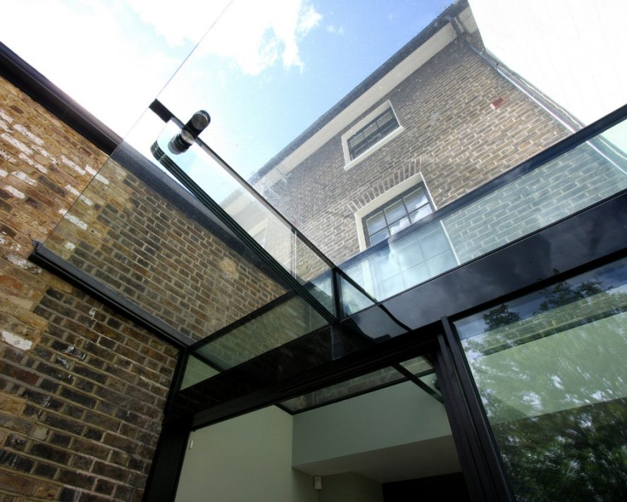 contemporary glass canopy