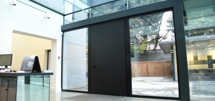 entrance door to showroom
