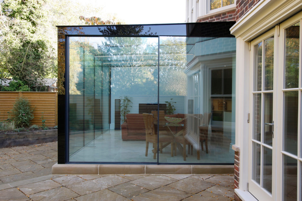 structurally glazed box extension