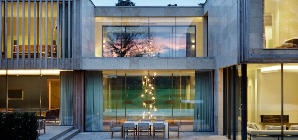 Jura House Glass Courtyard