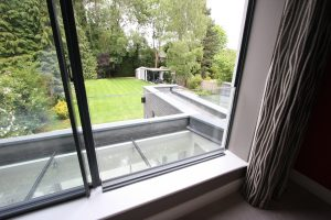 Internal Glass Balustrade at Kewferry Drive Modern House