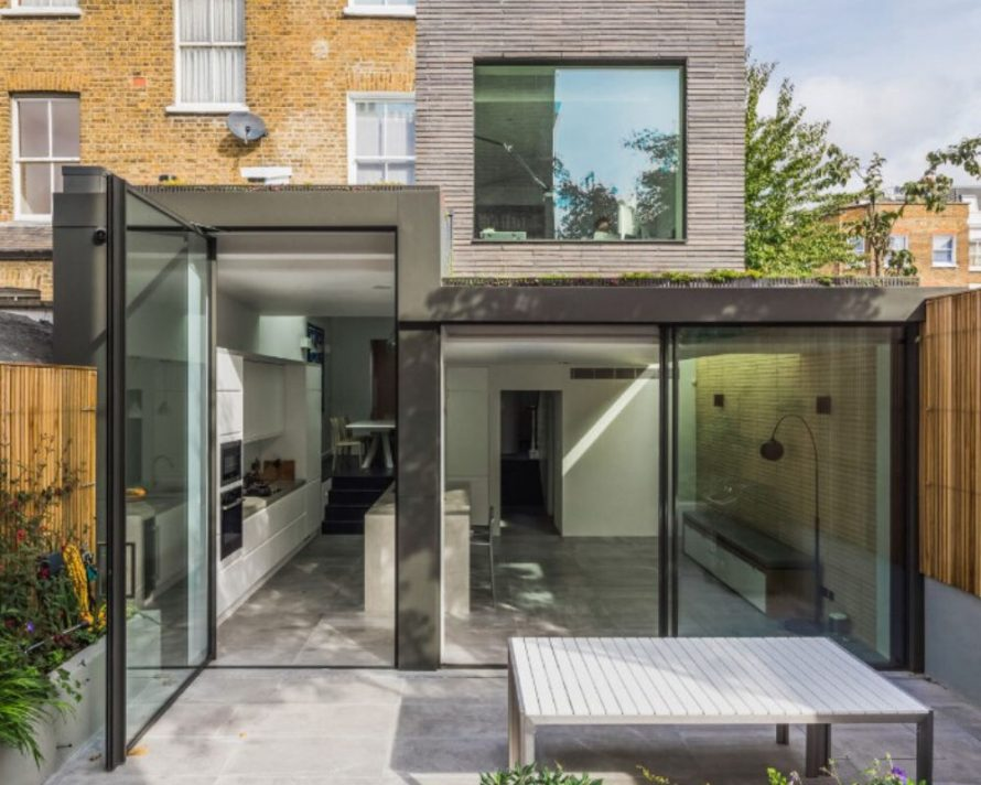Large Elevations of Architectural Glass to the Rear of a Property