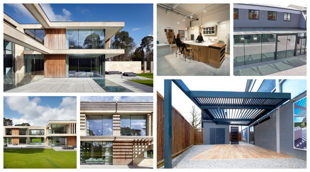 Jura House and Sky House renovation collage