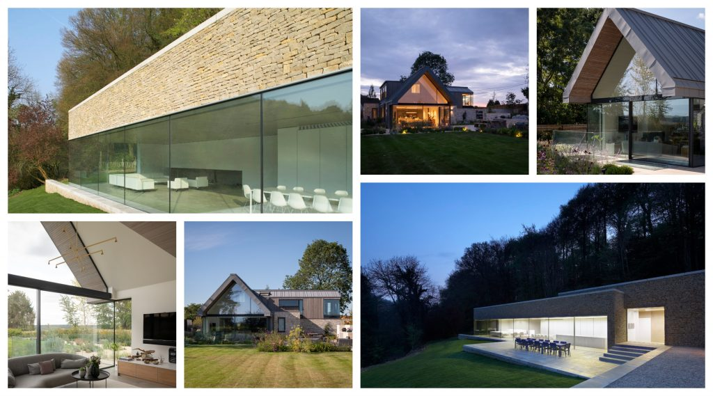 Collage of new build glass properties by IQ Glass