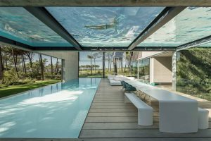 frameless structural glass swimming pool