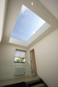 large frameless effect venting rooflight