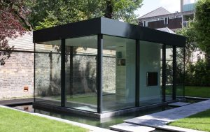 Modern glass garden room