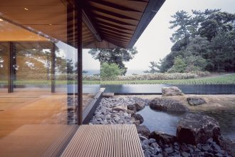 New build Japanese home with luxury sliding glass systems