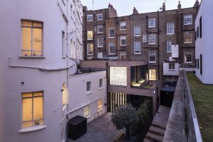 Modern glass rear renovation to London townhouse