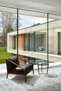 floor to ceiling structural glass walls