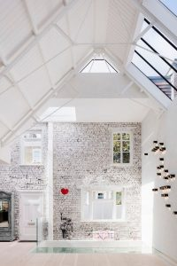lightfilled house with windows and skylights