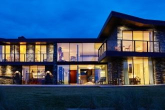 sand dunes luxury new build home in Cornwall with a glazing package from IQ Glass including floor to ceiling sliding glass doors